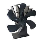 6 Blades Ventilatore del camino Ventilatore della stufa Ventilatore riscaldato Ventilatore eco alimentato a caldo