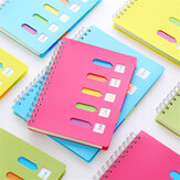 Heeton A5 Coil Notebook Colorful PVC Cover Iron Coil 120 Pages A5 Notebook Student Writing Sketching Notes Taking Book