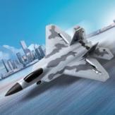 FX Flybear FX922 F-22 Raptor EPP 315 mm Envergadura 2,4 GHz 4CH Giroscopio incorporado Potencia de doble motor RC Avión Jet Entrenador Warbird Ala fija RTF para principiantes