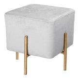 Aksamitny sześcienny stołek tkanina na buty ławka do siedzenia stołek nowoczesne krzesło otomany Sofa podnóżek drzwi do domu sklep odzieżowy dekoracja mebli