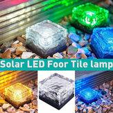 LED de energia solar enterrada luz de gelo impermeável Cube lâmpada de gramado para caminho ao ar livre iluminação de deck de jardim