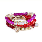 Bohemian Multilayer Bracelet Beads Crystal Bracelets Women Accessories