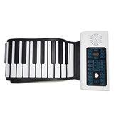 Phím BR-A-88 Bàn phím có thể sạc lại cuộn Piano với Loa micrô cho người mới bắt đầu