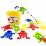 13PCSKidsToysJumpingGameBouncing Frog Hopper Party Favor Educazione di compleanno