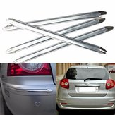 4Pcs Car Auto Decoration Strip Silver Chrome Bumper Corner Guard Protector