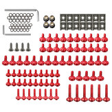 137 pcs Carénage Bolt Kit Attache Clip Vis Écrou Pour Sportbikes Moto