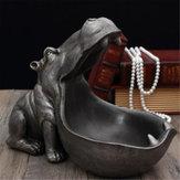Statua Hippopotamus Ozdoby Żywiczne Klucz do Przechowywania Przekąski Home Office Art Dekoracje