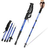 IPRee® 4 Section Hiking Walking Climbing Sticks Trekking Pole Adjustable Anti Shock Aluminum Canes 50-110cm