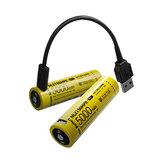 1 Adet NITECORE NL2150HPR 21700 5000 mAh 15A Type-C Şarj Edilebilir Li-Ion Batarya Fenerleri Için