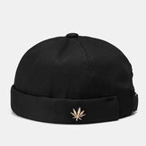 Unisexe Brimless Chapeaux Solid Color Coconut Tree Label Skull Caps