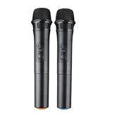 2 Channel 50Hz-15KHz Pro UHF Wireless Microphone System Cordless Mic + Receiver