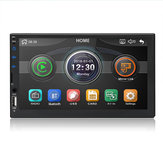 7049D 7 Inch 2 DIN WINCE Auto MP5-speler FM-radio Stereo HD Touchscreen USB AUX bluetooth In Dash Ondersteuning Camera