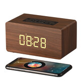 W5C bluetooth 4.0 WirelessBT Mini Portable Wooden Speaker LED Display Clock Wood Speakers for Laptop Phone Tablet