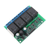 IO25D04 4CH DC 6V-24V Flip-Flop Latch Relay Module Bistable Self-locking Electronic Switch Low Pulse Trigger Board Button MCU IO Control Board