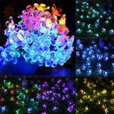Fleur de fleur solaire Fairy String Light 23FT 50LED Home Decor de mariage de jardin