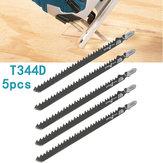 5 Adet HCS T Shank Testere Jiletler Ahşap Plastics Kontrplak Jigsaw için Kesici El Aletleri