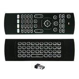 MX3 sem fio QWERTY branco Backlit 2.4GHz mouse teclado de ar para TV Box MINI PC