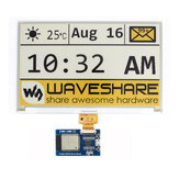 7.5 Inch Bare e-Paper Screen + Driver Board Onboard ESP8266 Module Wireless WiFi Yellow Black and White Display Waveshare for Arduino - products that work with official Arduino boards