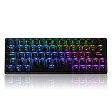 Geek GK64 64 Key Gateron Switch Hot Swappable CIY Switch RGB Backlit Mekanisk Gaming Keyboard