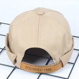 Mens Solid Cotton Leisure News Caps