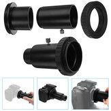 Prolunga nera da 1,25 pollici e adattatore per telescopio astronomico per Canon fotografica