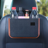 Foldable Car Storage Organizer Waterproof Seat Back Hanging Trash With Small Table Convenient Auto Storage Bag