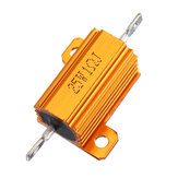 3pcs RX24 25W 1R 1RJ Metal Aluminum Case High Power Resistor Golden Metal Shell Case Heatsink Resistance Resistor