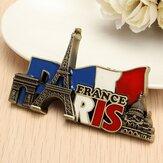 Paris France Travel Collectible Metal Stereoscopic Naklejki na magnes na lodówkę Pamiątki turystyczne