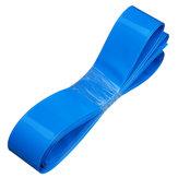 50mmX10m PVC transparente / preto / azul tubo de psiquiatra de calor para Lipo Bateria