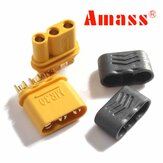 Amass MR30 Connector Plug With Sheath Female & Male 1 Pair