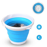 4-Modes 10L Portable Folding Mini Washing Machine Rotating Turbines Washer USB Charging Laundry Clothes Cleaner for Outdoor Travel