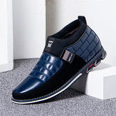 Men Wearable Soft Sole Slip-on Business Casual Leather Ankle Boots