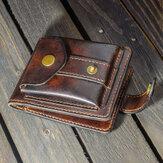 Men Vintage EDC Genuine Leather Coin Bag Card Case Belt Sheath Waillet Waist Bag