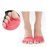 Women Empty Five Toe Silicone No-Slip Foot Gel Cotton Metatarsal Pain Relief Absorber Foot Pad