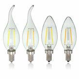 E12 2W COB Edison Filament Bulb LED Candle Light Lamp Bulb AC110V
