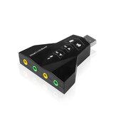 USB Placa de Som 7.1 Canais de Áudio 3D Placa de Som Adaptador de Microfone para 3.5mm Jack Headset Estéreo para Mac OS Android Linux