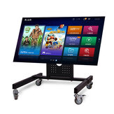 Universal TV Stand Table Top TV Stand for 32-65 inch LCD LED TVs Height Adjustable TV Base Stand with 4 Locking Wheel