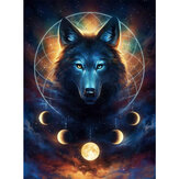DIY Diamond Painting Animal Wolf 5D Full Diamond Art Craft Kit Decoraciones de pared hechas a mano Regalos para niños Adultos