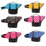 S Pet Aquatic Reflective Preserver Float Vest Dog Cat Saver Life Jacket New
