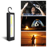 COB Work Lamp AA Battery Flashlight Magnetic Attraction Camping Light With Hook