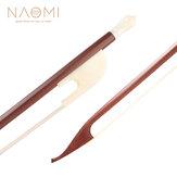 NAOMIバロック様式4/4ブラジルボクのバイオリンの弓W /アイボリーのようなカエル白い馬の毛軽くて芸術的
