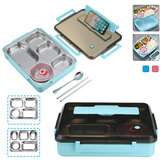 304 Stainless Steel Lunch Box 4/5 Grid Leakproof Food Container Outdoor Camping Picnic Kitchen