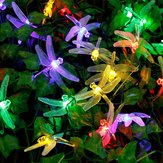 Honana DX-334 20 LED Dragonfly Kleurrijke String Lights Zonne-energie Night Light Garden Home Decor