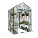 3-Tier Greenhouse 6 Shelves PVC Cover Garden Cover Plants Flower House w/ Shelf
