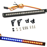 22LED Colorful RC Yanıp Sönen LED Lamba Bar Çatı Lamba Kit 1/10 TRX4 SCX10 90046 RC Paletli Kamyon için