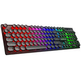 IMICE USB RGB Mechanical Gaming Keyboard Luminous Game Keyboard Desktop Punk Mechanical Handle Floating Round Cap