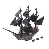 3D Woodcraft Assembly Kit Black Pearl Pirate Ship For Children Toys