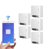5pcs SONOFF MiniR2 Two Way Smart Switch 10A AC100-240V Works with Amazon Alexa Google Home Assistant Nest Supports DIY Mode Allows to Flash the Firmware