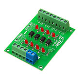 5pcs 5V To 24V 4 Channel Optocoupler Isolation Board Isolated Module PLC Signal Level Voltage Converter Board 4Bit