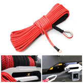 15m 7000LB Synthetic Fiber Winch Rope Tow Cable for ATV SUV Off Road